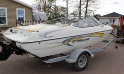 Here is a 2003 Stingray with only 18 Freshwater hours! Thats right only 18! Powered by a 3.0 merc, this is an economical vessel that is really fuel efficient but will still do 44mph. The floorplan has the sought after Captains chairs, a large rear bench