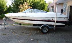 I am selling the boat as my family and friends are ready for a larger and faster boat. The boat was purchased in the spring of 2009 and I have put 75 hours on the Mercruiser 3.0 engine since then. I have never left the boat in saltwater overnight and it