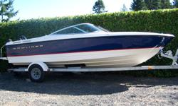 2004 21 foot Bayliner  215 bowrider. bought new in 2006. Approx 100 hours on Mercruiser 5.0 220 HP with Alpha drive.  Bimini top plus storage cover and travel cover. Dual purpose boat great lake boat for pulling th kids around on skis or tube. Comes with
