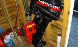 Just moved to a new location and need to get rid of some things I have been holding on to in my shed. I have a Mercury 6 hp outboard motor, 2- stroke. It has a new fuel tank and hose and has had little usage. $995 or best offer. Make sure to give me a