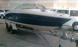 You're looking at a 2004 SeaRay 200 Select open bow inboard/outboard with 260 HP 5.0L Mercruiser engine, Alpha 1 Drive with a Stainless 3-blade Vengeance prop, seating for 8, Clarion stereo system, rear sun-deck, depth finder, built in anchor, snap in