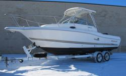 very clean fresh water boat with all the luxuries of fishing and overnighting, 2 huge live wells ,2 built in coolers,fresh water wash down,stand up pump out head,hard top ,huge cockpit with wide beam.GPS ,vhf radio,compas,21 lb anchor and lines ,comes
