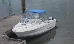 As new condition only 270 hours on 115 H.P. four stroke Yamaha and 9.9 H.P. High Thrust kicker. Many Campion options and Standard Horizon chart plotter/ depth sounder/ fish finder, Standard V.H.F. GX1000 radio, Fusion Stereo system, small invertor, rigged