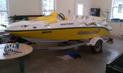 Im selling my Bombardier BRP Sportster 155hp 4 stroke boat. Boat has very little hours on it, ~50 hours since 2005. Comes with Galvanized trailer, Seadoo boat cover, speedboat anchor, and 4 Seadoo brand life vests. Boat works perfect, and regularly