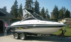 Last chance to try me before I am winterized. 11 person bowrider boat, 185 hrs, wakeboard tower with bimini cover.