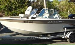 Great family boat. great on gas and easy to tow. perfect combination of ocean and lake boat. perfect for fishing and skiing. specifications: -17.5 Feet long -7.8 feet wide -1295 pounds -100. gauge aluminum -140 L gas tank -Max 55-60 Km/H -galvanized