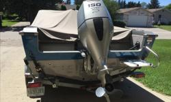 2005 Lund Fisherman 1800. 150 Honda 4 stroke with new transom saver. New graphics, never in the water. 3seats, walk thru windshield, swim platform. Ros storage, flip up rear seats. Bow Buddy on trailer. New spare, LED lights. New trailer guides. Full