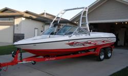 Winter Special. Sanger V215 wakeboard boat with 48 hours. 330 hp black scorpion motor. Collapsing tower and new cover. Teak wood swim platform and removable bow cushion. This is a beautiful boat in awesome condition.