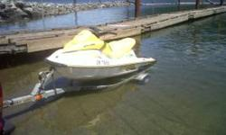 2005 seadoo gti 2 stroke new ecu last year ($1000) 3 seater very stable and comfortable always professionally winterized and de winterized at local marine mechanics comes with seadoo cover sitting on a 2005 karavan trailer $4900 604 864 1788