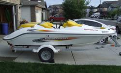 LIKE NEW CONDITION! Powered by a 130 HP Rotax Jet drive. Good for pulling wake boards, tubes or for fishing. Fast (50 mph+), turns on a dime. Regularly serviced and winterized. Boat cover, spare tire, 2 life jackets and safety equipment, lots of storage,
