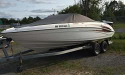 Trailer included Twin 140 HP engines, Am/Fm CD Stereo, New cover and new interior, boat is clean and ready for a new owner. Please contact our Ottawa location for a private viewing.
