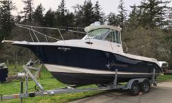 2006 25ft Seaswirl Striper, In/out Cruiser with 2006 280hp Volvo Penta Engine, max speed 35mph, with just over 400 hours on engine. 2014 Yamaha auxiliary 9.9hp motor 2006 EZ Loader trailer which was just redone with new breaks, wiring & bearings.