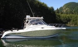 2006 32' Proline Twin 225 Merc Verado Supercharged four strokes. Full electronics, heat, air conditioning, head, kitchen, flat screen this is a beautiful machine not a blemish on this beauty.