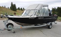 LOCATED IN PRINCETON, BC 2006 Harbercraft 19 ft 1925 Adventurer 2010 Mercury 115 HP 4-stroke Mercury 9.9 HP 4-stroke Both motors remotely controlled 2006 Karavan Trailer (galvanized) Includes: Both travelling and Full canvas top covers Lowrance HDS5 Depth