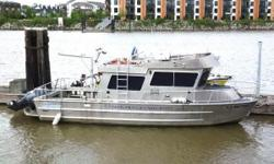 32ft x 10ft 6in aluminum research vessel, twin 250 hp Yamaha outboards, 1,890 hours on the whole boat, Fischer Panda Genset, Karma &amp Blake Industries Ltd. built the boat in 2006, 2 aluminum fuel tanks 190 gallons total, sleeps 2, Espar diesel heater,