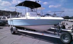 "2006 SEA-FOX 197CC  CENTER CONSOLE THIS BOAT IS LIKE NEW AND POWERED BY A 115 HP MERCURY SALT WATER OUTBOARD MOTOR . THE BOAT COMES WITH ALUMINUM BUNK TRAILER. SPECS: BEAM 7'8"" , CENTERLINE LENGHT 19'8"" ,BRIDGE CLEARANCE 8'1"" ,DEADRISE 19 DEGREES, DRAFT"
