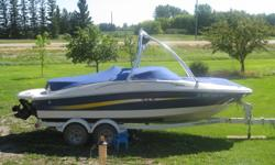 I am selling a 2006 Sea Ray 195 Sport that has 95 hours. 4.3l V6 mercury motor. full fiberglass hull, snap in carpet. everything included. Boat is loaded. If interested cal Mason at 204-828-32554. The boat is already winterized and stored but there is