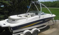 We are selling our 06 Sea Ray because we need a new car. We are the second owners and bought it last year from a retired couple (with 43.6 hrs). It was always stored inside and serviced regularly. An extremely comfortable boat to spend the day in no