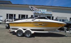 Description: Attention Water Sport Enthusiasts!!! This is the perfect family boat with all the power needed to pull anyone out of the water, powered by a 5.0L Mercury MPI V8 Engine with S/S prop. This SeaRay is equipped with a SeaRay factory wake board