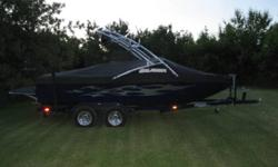 "21' 330 HP 5.7L V8 Mercury Black Scorpion engine, 700 lbs factory ballast Pure Vert patented system, Sirius satellite radio 8"" Wet Sound (x2) tower speakers 10"" subwoofer and two amplifiers, 6 in-boat speakers (ampl'fied), Heater, Perfect Pass Wakeboard"