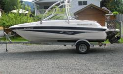 18 foot plus 2 ft swim grid,4.3 Ltr in board merc,fresh water cooled,only 150 hours,Monster Tower with board racks,Cd Stereo,snap in carpets,full boat cover plus bimini cover,very nice boat and meticulously cared for