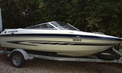 """Volvo Penta 3.0L - 135 hp, 94 hours, original owner, stored indoors for winters. Length 18'5"""" with platform, Glastron VEC hull, swim platform, driver flip up booster seat, 3 step boarding ladder, AM/FM Sirius/CD Stereo. in floor storage, bow storage under"""