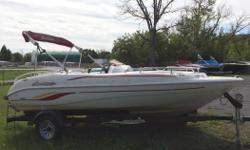 This boat has a 3.0L Volvo Penta Engine -Am/Fm Stereo -Covers -Trailer -Dual front loungers This is a fresh trade that has been well cared for so is very clean. Please call 1-888-212-9289 for more information and to schedule a private viewing.