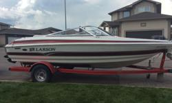 2007 Larson SEI 180 LX - Original Owner. This boat has very low hours and is in mint condition. Mercruiser 4.3L 190 h.p. motor. Cockpit covers, snap in carpet, tilt steering, depth finder, stereo, swim ladder, travel tarp, fire extinguisher and paddles.