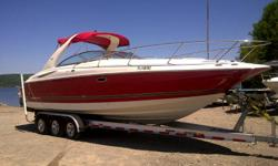 Boat and trailer in excellent condition Very sporty with plenty of room Excellent performance from twin 350 mag engines well equiped with a generator and air conditioning max speed 60 mph Only135 hrs Like new for a great price!!!! contact at 578-3063