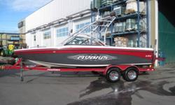 340 HP Indmar V-Drive Engine, Seats 13, Tower, Tower Speakers, Tower Mirror, Bimini Top, Board Racks, CD Stereo, Amp & Sub, Ski Pylon, Cruise Control, Wakeplate, Pop-Up Cleats, Interior Cup Holders, Depth Finder, In-Floor Storage, Rear Storage, Heater,