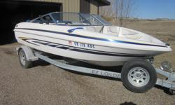Includes: Very clean, leather seating is in great shape 3 liter Volvo penta inboard motor Low hours--71 Bimini top Fish finder and rod holders Trolling motor attached to the stern drive Stereo Tarp Water skies and rope Ezy load trailer with a swing away