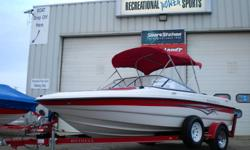 2007 REINELL 185LS   POWERED BY A FULLY SERVICED 4.3L VOLVO PENTA UNIT COMES WITH OUR STANDARD 1 YEAR WARRENTY   LOW HOURS FACTORY BIMINI COVER OPEN BOW CHANGEABLE REAR SEATING TO SUN DECK CD DECK FISH FINDER FACTORY CUSTOM SNAP COVER COMES WITH