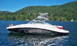 2007 Sea Doo Wakeboard Boat, Sickest wakeboard boat around, 23.5 feet, 9 ft beam, seats 12, twin supercharged 215hp engines- Total 430hp, K/N air intake. 96 hours on engines/boat, HUGE marine stereo: 3-900 watt amps (1 kicker, 2 mtx) 1 inifinity 225watt,