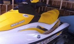 2007 GTI SE 1494cc, 130hp, Rotax 4-TEC, 3 seater Comes with trailer, 2 adult sized lifejackets, Sea Doo cover, tube that's only been used once, 2 keys...has lots of storage space....VERY LOW HOURS Needs impeller, will replace if price is met, or take a