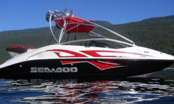 Only 15 hours on this 20' boat in brand new condition. Electronic Wake Pass system allows for exact set/cruise speed for wake boarders/skiers or wake surfers. Tower with wakeboard racks, Infinity speakers, ballast tank, twin 215 engines gets you out of