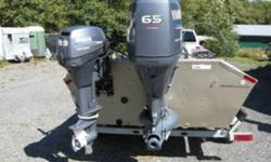 -optimal set up for fishing -comes with three motors, low kms -excellent cond, comes with galvanized trailer $19300 call 778 888 9111