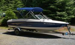 2008 bayliner 175 bowrider with 3.0 mercruiser engine. Very clean boat. Very low hours. Very well maintained. Comes with bimini top, cobra radio, lowrance depth sounder, factory upgrade stereo and steering wheel. Caravan galvanized trailer. $11,000 Please