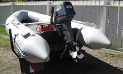 """2008 Bombard Typhoon 420 (13' 9"""") (made by Zodiac, 20008 25HP Yamaha 2 stroke, EZ Loader bunk trailer, front air cushion seat, rear swivel seat mounted on storage box, storage cover, turbo air pump, have used aprox 30 gallons of fuel since new, also have"""