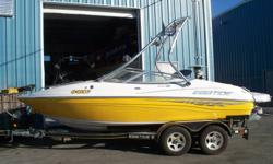 THIS 20 FT. BOW RIDER IS LOADED WITH A VOLVO PENTA 4.3L 225HP V6 WITH ONLY 70 HOURS, ROSWELL WAKEBOARD TOWER WITH RACKS, SNAP OUT CARPET, DUAL FLIP-UP BOLSTER CAPTAINS CHAIRS, AM-FM/CD/IPOD WITH AMP, EXTENDED SWIM PLATFORM, TANDEM AXLE TRAILER WITH BRAKES