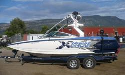 Year: 2008   Model: X Star   Engine: Indmar 60. LTR 400 HP   Trailer: T/A trailer   Specs: Tripple ballast  1000 lbs of Ballast, Perfect Pass Speed Controle, 6.0 LTR Indmar Engine 400 HP, Tower, Bimini, 4 Tower Speakers, 2 Tower Lights,1 Swivel Wakeboard