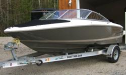 2008 REGAL 1900 BOW RIDER IN NEW CONDITION WITH ONLY 21 ORIGINAL HRS , YES 21 HRS .BOAT HAS TITL WHEEL , STEREO AND CD PLAYER, BIMINNI TOP , FULL COCKPIT COVER AND BOW COWER ,POWERED BY 4.3 V6 VOLVO I/O , COMES WITH TRAILER . ALWAYS STORED INSIDE AND THE
