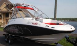 2008 SEADOO 230 WAKE This Boat Is Immaculate! Purchased New as a Left Over in 2010. Driven 3 Times. Less than 30 Hours! One Owner, No Lien, No Flood, ZERO Stories! Fully LOADED With All The Options From Sea Doo. Wake Board Tower, Ballast Tanks, Bimini