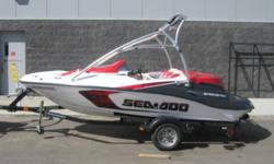 2008 seadoo speedster 150 with tower 155 HP Rotax 4-TEC Engine, Seats 4, Tower, Bimini Top, Stereo, Open Bow, Ski Pylon, Cleats, Cover and Karavan Trailer! Call martin Motor sports west adn ask for Chad at 780 481 4000 or for more pictures go to