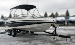 **LIMITED TIME OFFER** REGULAR: $46,995 - $4,000 CASH ALTERNATIVE =42,995 w/Mercruiser Bravo I MX 6.2 MPI INCLUDES: Bimini Top, Tonneau and Bow Cover! Only 67 Hours! *Offer Expires End of Month Standard Features Construction & Exterior Bimini Top Tonneau