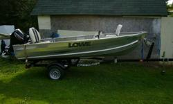 BOAT ONLY   Lowe boat bought brand new in Oct 2009. Fish finder and two rod holders go with the boat. Very stable on the water it will take up to a 25 hp short shaft outboard.