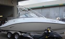 Twin 255 hp Supercharged Intercooled Engines (510hp) Comes with storage cover Comes with custom trailer, complete with upgraded tires and chrome rims including matching spare tire mounted to trailer Comes with snap in carpet that has never been used