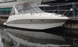 This boat is equipped with: -Twin Mercruiser 350 Mag MPI Bravo III with Digital Throttle and Shift (DTS) - Canvas package - sand - Canvas cockpit cover - sand - Fire suppression system - Stern filler cushion - Lowrance HDS8 GPS - Micron bottom paint -