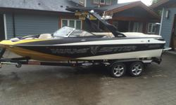Like the Malibu Wakesetter VLX, this Malibu Wakesetter 23 LSV is the wakeboard boat of choice for many pros. Pure and simple, the Malibu Wakesetter 23 LSV is made for the wakeboarder who cares as much about luxury as superior wake performance. Specs: -