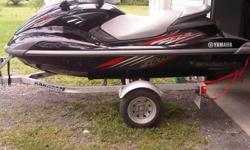 2009 Yamaha FZS Waverunner with Karavan trailer and cover.55hrs,waverunner was bought new in 2010,3 seater,tow ring and has reboarding ladder,2 life jackets. Asking 12,500 Machine is in excellent shape works perfect,interested in buying boat for next
