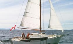"""""""Brawyn"""" is cutter rigged with a raked stem and stern and a rounded bilge with a full lead keel. She is brimming with traditional features such as the skylight, the brass hand faucet pump and the hand spliced galvanised steel standing rigging. A boat that"""